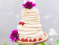 没有翻糖照样美 煎饼型蛋糕图片