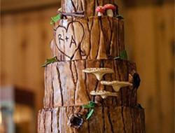 创意特色的森系婚礼蛋糕