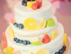 婚礼上的水果蛋糕图片