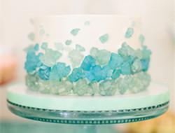 海洋风主题婚礼上的蛋糕图片