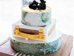 当地图遇上翻糖蛋糕 创意蛋糕