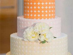 老式的浪漫漂亮婚礼蛋糕