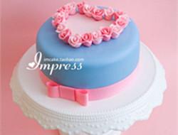 浪漫单层蛋糕图片欣赏