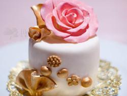 漂亮的迷你婚礼蛋糕 不一样的蛋糕