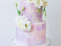 婚礼上的印花蛋糕 水墨蛋糕