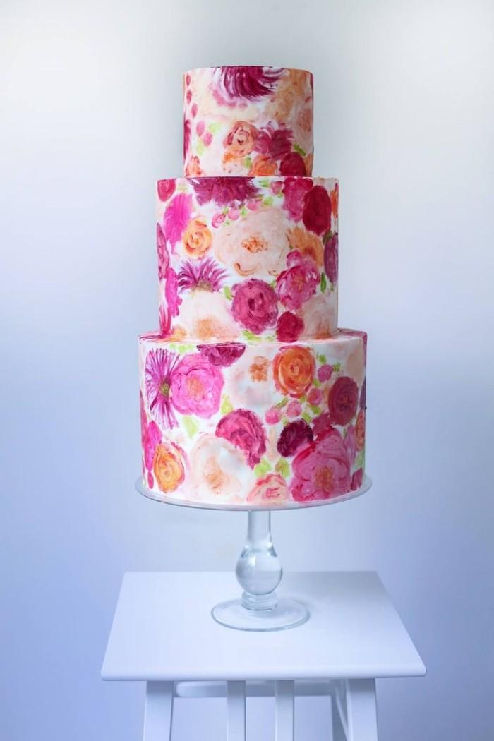 婚礼蛋糕:印花