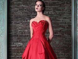 红色复古系列新娘礼服