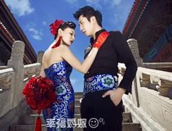 太庙宫廷古典婚纱照 展现新人贵气