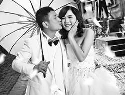 最美的婚纱照 黑白的爱情