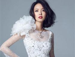 张梓琳演绎纯洁白裙 蕾丝婚纱玩公主诱惑