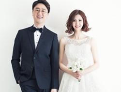 韩美女主播张珠熙婚纱照 眼睛超大似芭比