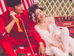 野外爱情故事 时尚婚纱照