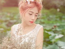 荷塘浪漫婚纱照 一个人的婚纱