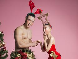 王韵壹变身圣诞女郎光头造型与猛男调情心情好