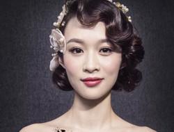 复古新娘盘发发型图片欣赏