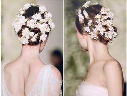 装饰在发间的浪漫花系新娘发型