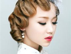 新娘复古发型 回到过去时代