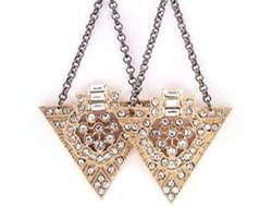 另类耳环 三角形时尚新娘耳环