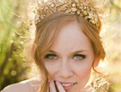 金色新娘配饰 做闪亮亮新娘