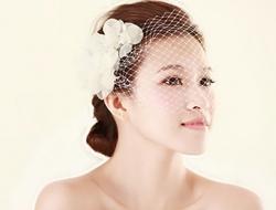 新娘化妝造型朦胧美面纱造型新娘妆