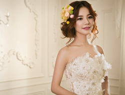 精灵花仙子甜美可爱新娘造型妆容