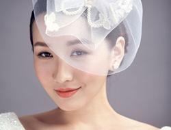 手工精美头饰韩式新娘妆干净甜美