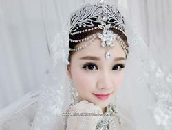 新娘鲜花造型妆容分享气质典雅高贵新娘妆