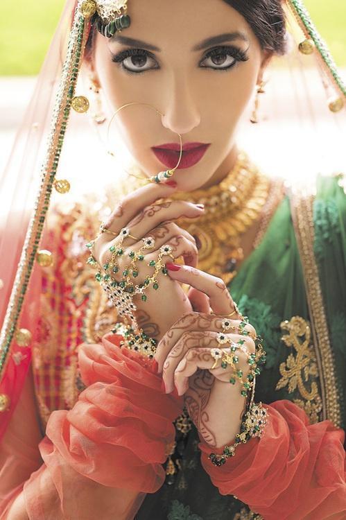 新娘妆图片,印度新娘妆图片,印度新娘妆