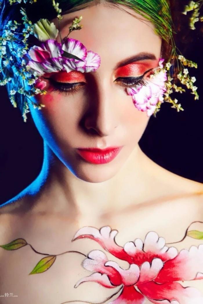 创意新娘妆-梦幻-彩绘-妆-发型