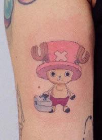 海贼王纹身 动漫海贼王主题的一组小纹身图片