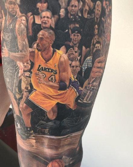 詹姆斯纹身 nba球星詹姆斯的真爱铁粉纹身作品