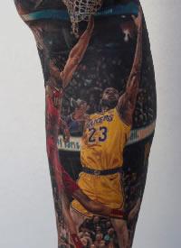 詹姆斯纹身 nba球星詹姆