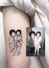 照片简笔画纹身 把照片