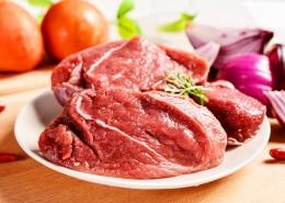 纹理清晰切好的红色的牛肉图片(9张)