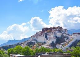 西藏拉萨布达拉宫建筑风景图片(9张)