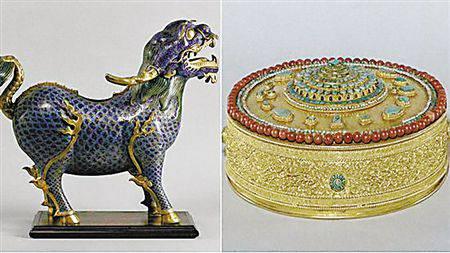 枫丹白露宫中国馆文物失窃 含乾隆年间景泰蓝麒麟
