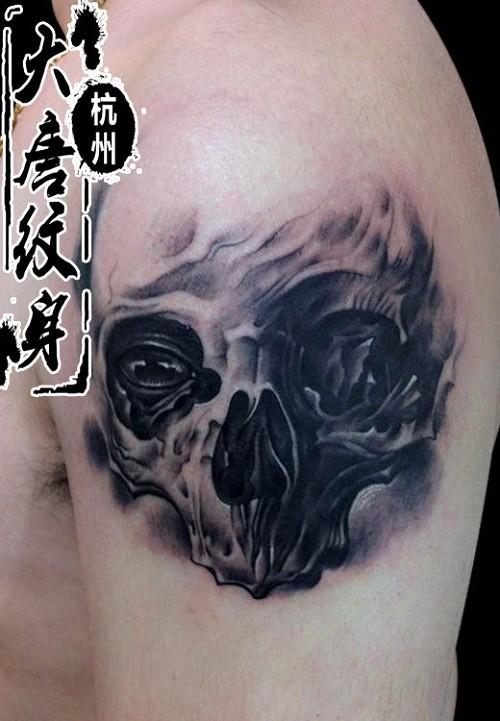 经典立体骷髅纹身
