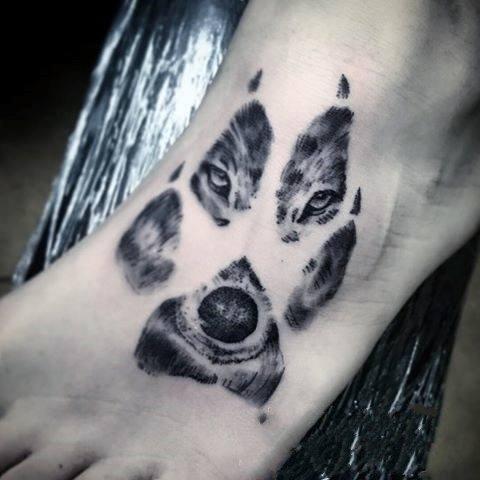 创意纹身图片  别致而又时尚的双重曝光纹身图案