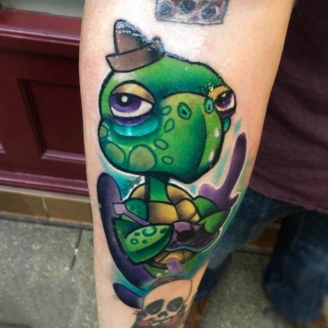 乌龟纹身图案   奇趣而又可爱的乌龟纹身图案