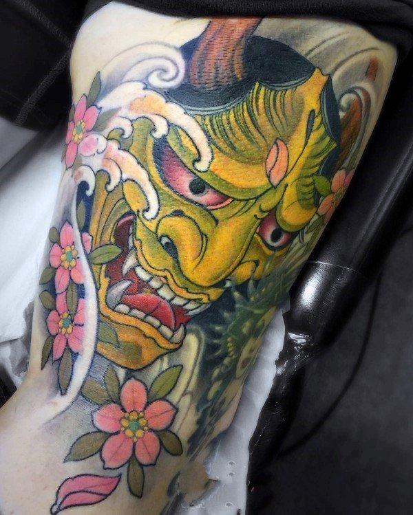 樱花 纹身图案   盛开似锦的樱花纹身图案