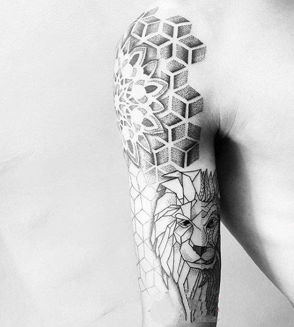 几何 纹身图案   多款设计感十足的折纸纹身图案