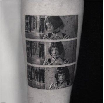 纹身人物图片   多款胶片质感的人物纹身图案