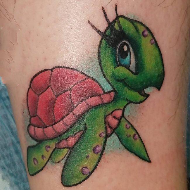 乌龟纹身图案   行动缓慢的乌龟纹身图案