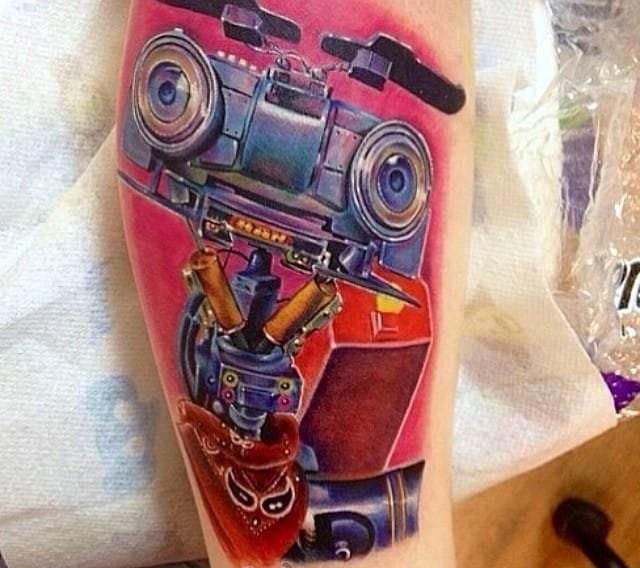 机器人纹身 帅气的机器人纹身图案