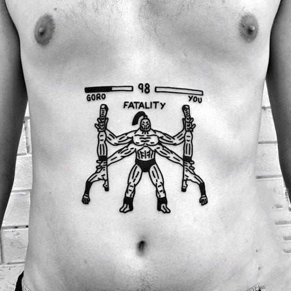 纹身图案胸部男   简单而又别致的男生胸部纹身图案