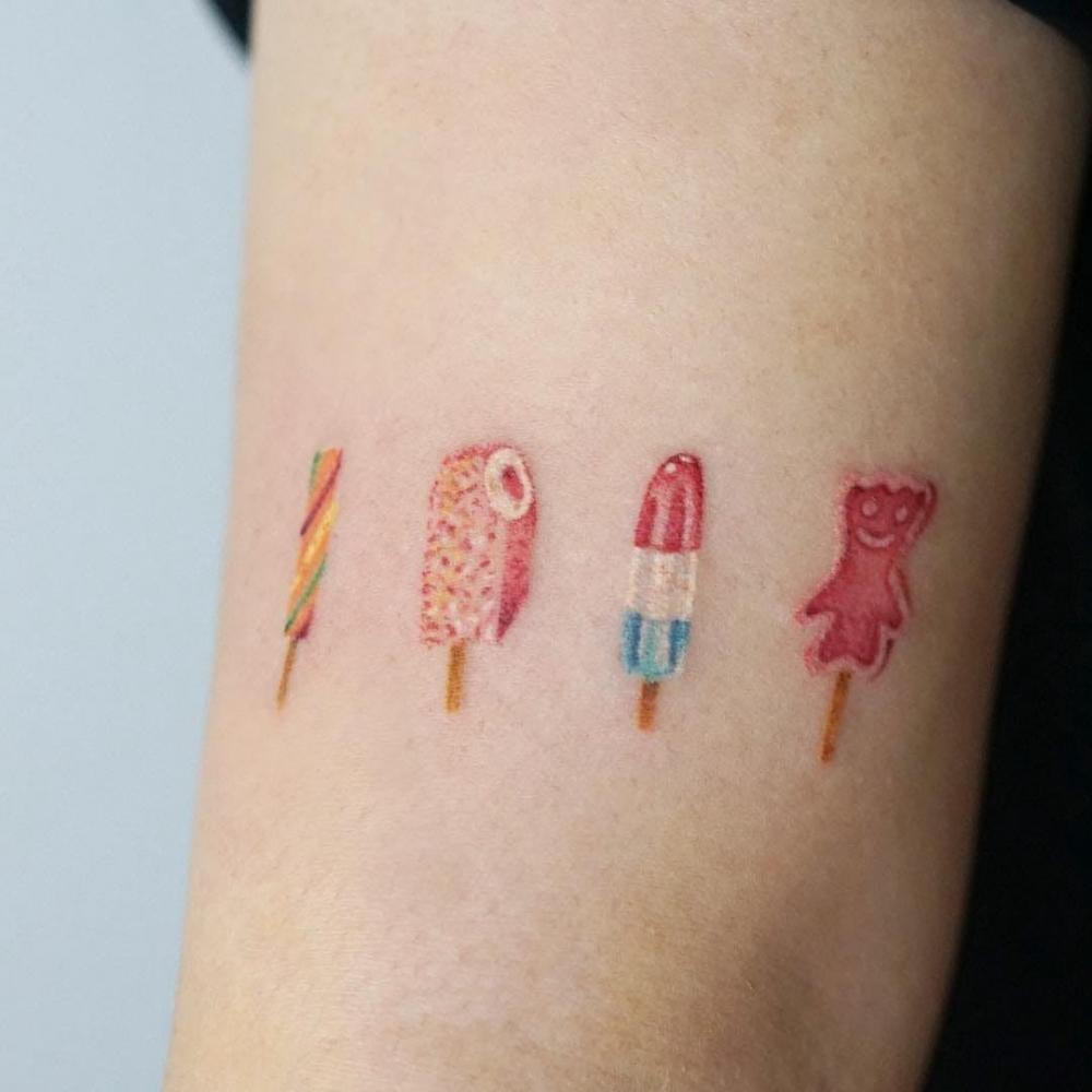 食物纹身  香甜美味的食物纹身图案