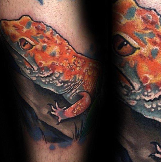 壁虎纹身图案  机灵敏捷的壁虎纹身图案