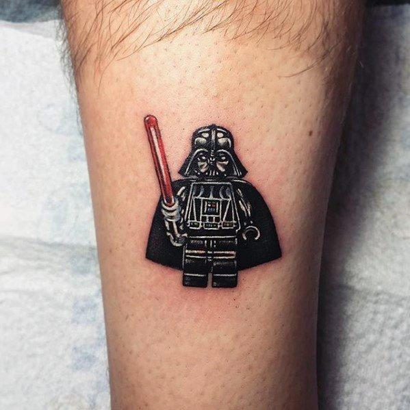 有趣的纹身  童趣十足的乐高玩具纹身图案