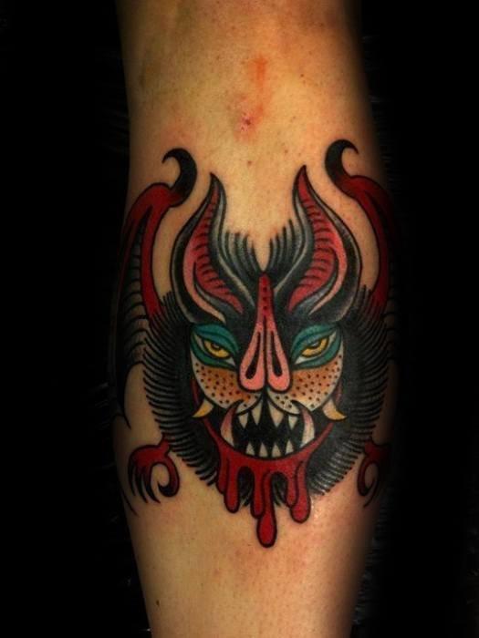 蝙蝠纹身图案_11张动物蝙蝠的纹身图案作品图片