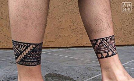 图腾纹身-简单干练的代表肌肉和图腾纹身图案
